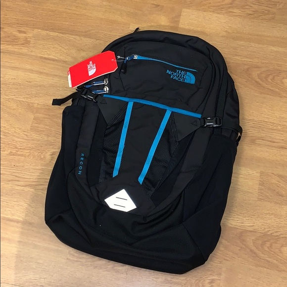 NWT The North Face Recon Backpack - Black/ Blue